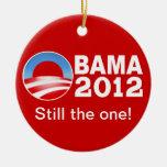 Obama 2012 - ¡Todavía el! Ornamento patriótico Ornamento Para Arbol De Navidad