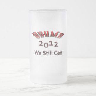 Obama 2012 todavía podemos rojo taza de cristal