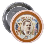 Obama 2012 Twin Flags Design Pinback Button