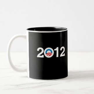 OBAMA 2012 Two-Tone COFFEE MUG