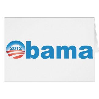 Obama 2012  v2 greeting card