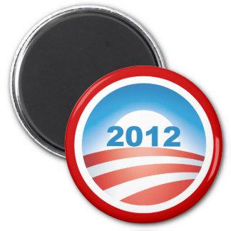 Obama 2012 v3 imán redondo 5 cm