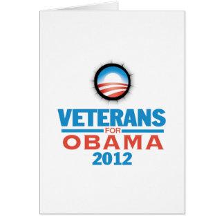Obama 2012 Vets Card