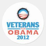 Obama 2012 Vets Sticker