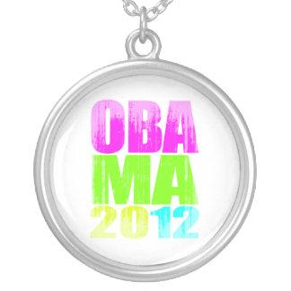 OBAMA 2012 Vintage png DE NEÓN Pendiente Personalizado