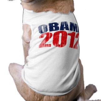 OBAMA 2012 Vintage.png Doggie Tee Shirt
