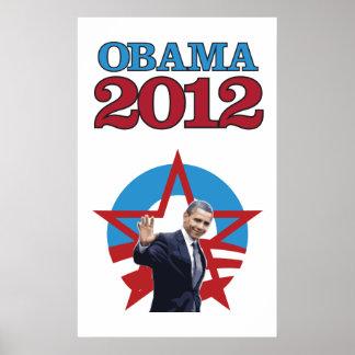 Obama 2012 White Poster