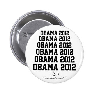 Obama 2012 with a Cute Funny Smiley Face Buttons