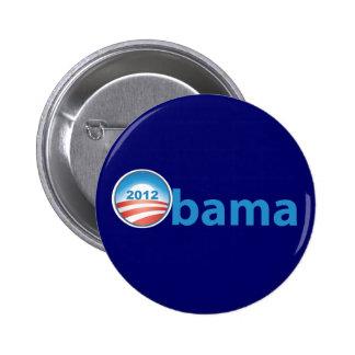 Obama 2012 With Obama Logo 2 Inch Round Button
