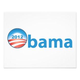 Obama 2012 With Obama Logo Custom Invites