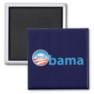 Obama 2012 With Obama Logo Magnet