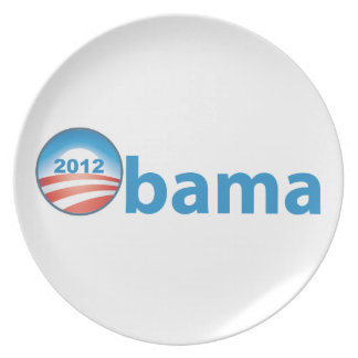 Obama 2012 With Obama Logo Melamine Plate