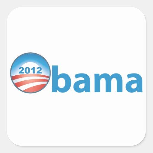 Obama 2012 With Obama Logo Sticker
