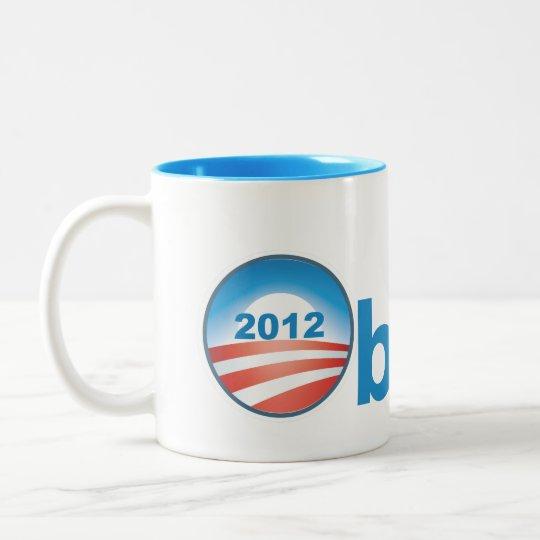Obama 2012 With Obama Logo Two-Tone Coffee Mug