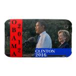 Obama 2012 y Clinton 2016 Case-Mate iPhone 3 Fundas