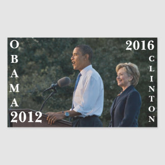 Obama 2012 y Clinton 2016 Rectangular Altavoces