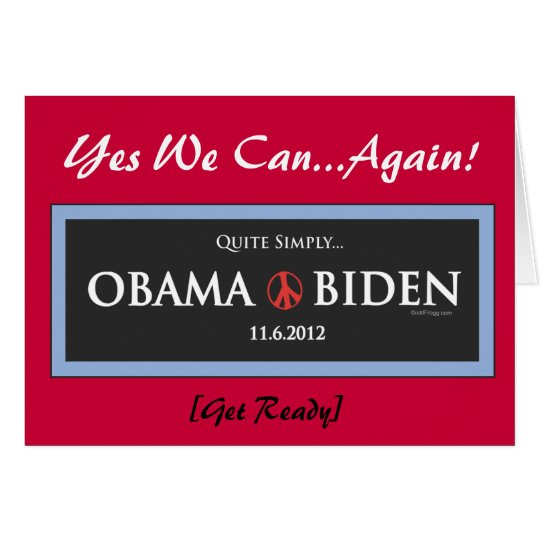 Obama 2012 Yes We Can Again Greeting Cards