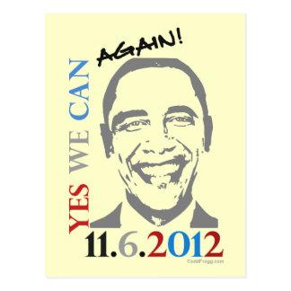 Obama 2012 Yes We Can Again Postcard