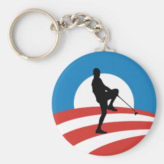 """Obama """"2014"""" viajes de la victoria llavero redondo tipo pin"""