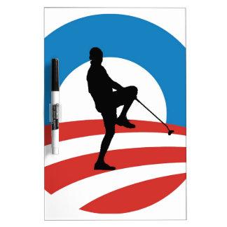 """Obama """"2014"""" viajes de la victoria tablero blanco"""
