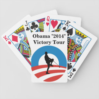 """Obama """"2014"""" Victory Tour Bicycle Playing Cards"""