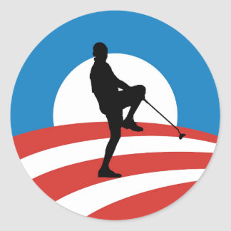 "Obama ""2014"" Victory Tour Classic Round Sticker"