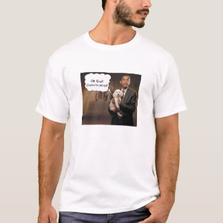 obama%20with%20dog, right_thought_bubble, Oh Go... T-Shirt