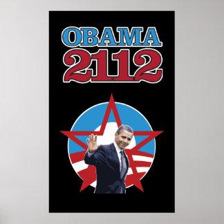 Obama 2112 Black Poster