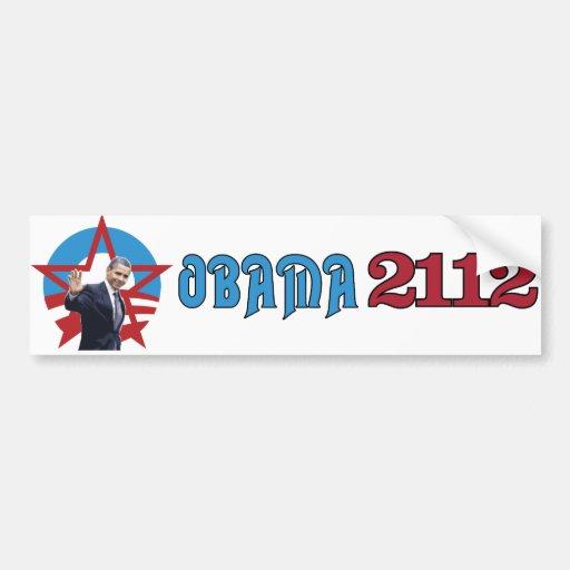 Obama 2112 car bumper sticker