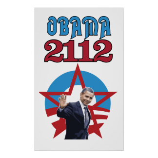 Obama 2112 White Poster