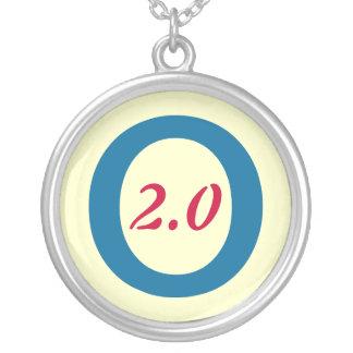 Obama 2.0 2012 Silver Necklace