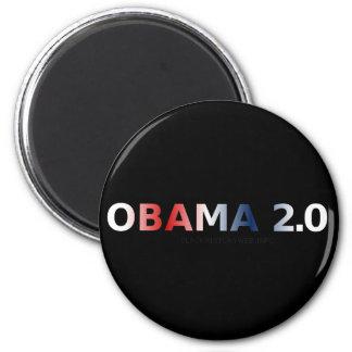 OBAMA 2.0 2 INCH ROUND MAGNET