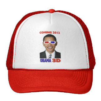 Obama 3D Coming 2012 Hat