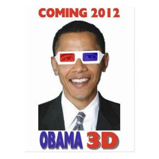 Obama 3D Postcard