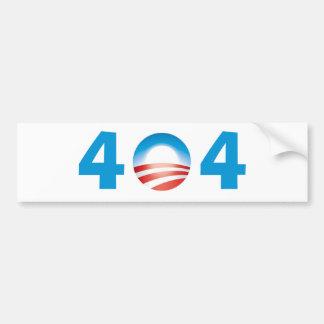Obama 404 desorientado - fichero no encontrado etiqueta de parachoque