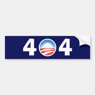 Obama 404 desorientado - fichero no encontrado pegatina para auto