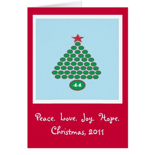 Obama 44 2011 Christmas Card