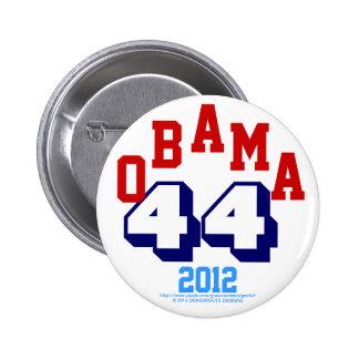 OBAMA 44 2012, rojo, blanco, medianoche y azul de  Pin Redondo De 2 Pulgadas