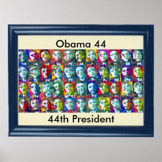Obama 44 - 44 th President Poster