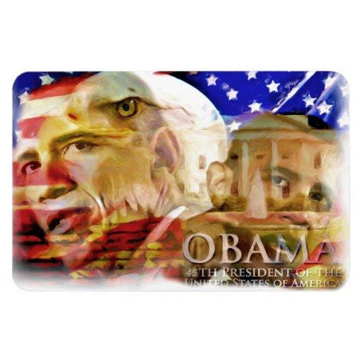 Obama, 44-45.o imán de President_ PrePremium Flexi