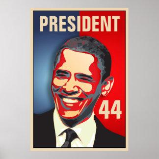 Obama - 44.a inauguración del presidente poster