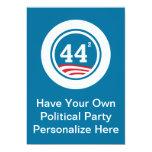Obama - 44 ajustados invitación 12,7 x 17,8 cm