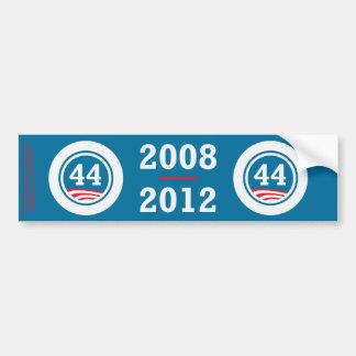Obama - 44 ajustados pegatina para auto