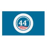 Obama - 44 ajustados plantilla de tarjeta personal