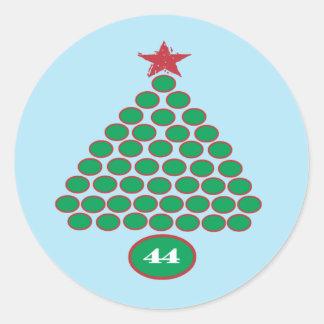 Obama 44 Christmas Stickers