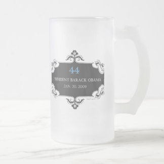Obama 44 Commemorative Frosted Stein Coffee Mugs
