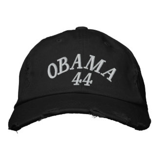 OBAMA 44 EMBROIDERED BASEBALL HAT