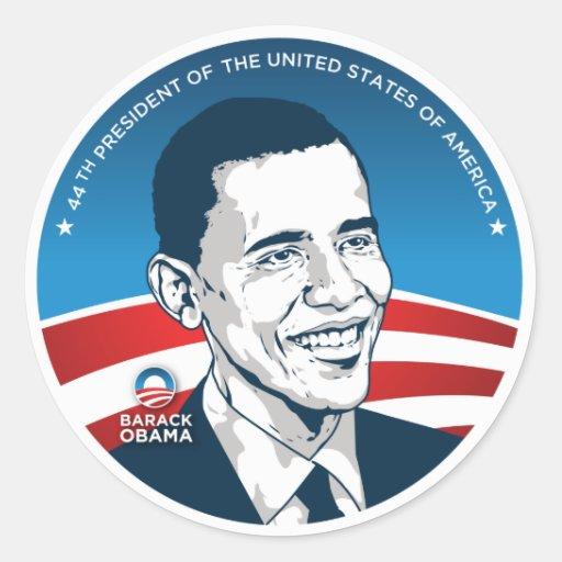 obama 44.os #2 pegatina redonda