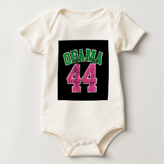 obama 44 pink green for dark womens baby bodysuit