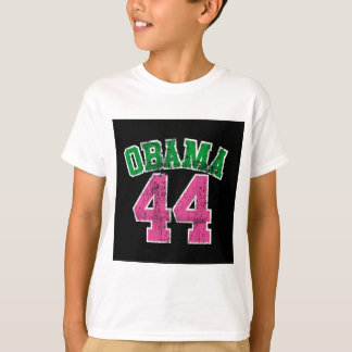 obama 44 pink green for dark womens T-Shirt